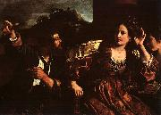 Giovanni Francesco  Guercino Semiramis Receiving Word of the Revolt of Babylon oil painting artist